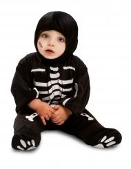 Skelett-Kostüm für Babys schwarz-weiss