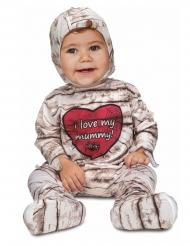 Süßes Mumien-Kostüm für Kleinkinder Halloween beige-braun