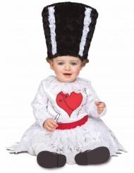 Frankies-Frau Monsterkostüm für Kleinkinder Halloween weiss-schwarz-rot