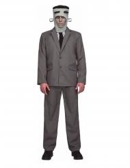 Franky-Monster Herrenkostüm für Halloween grau-schwarz