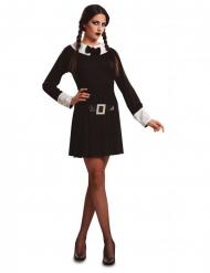 Finsteres Gothic-Mädchen Halloween-Kostüm für Damen schwarz-weiss