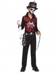 Voodoo-Kostüm für Kinder Halloween-Verkleidung schwarz-rot