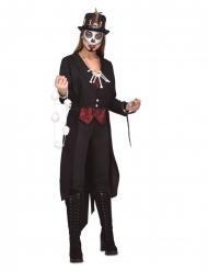 Magisches Voodoo-Kostüm für Damen Halloween-Verkleidung schwarz-rot