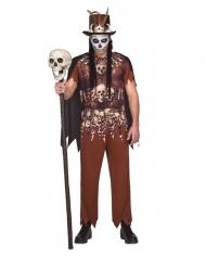 Voodoo-Hexer Halloween-Kostüm für Herren braun