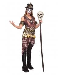 Schauriges Voodoo-Damenkostüm für Halloween braun