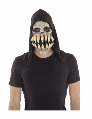 Totenkopf-Maske mit riesigen Zähnen Latex Erwachsene