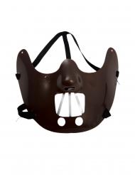 Film-Kannibalen Maske für Halloween Kostümzubehör dunkelbraun