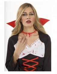 Schnittwunden Kette für Erwachsene Halloween Rot