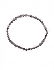 Totenkopf-Halskette Voodoo-Accessoire für Erwachsene grau 54cm