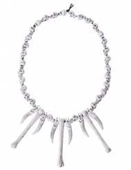 Voodoo-Halskette mit Knochen Halloween-Zubehör weiss 64 cm