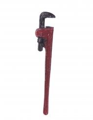 Klempnerschlüssel Kostüm-Accessoire rot 52 x 9 cm