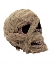 Totenkopf-Mumie Skelettschädel Raumdekoration 20x16 cm braun