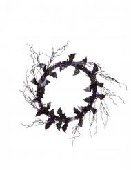 Türkranz mit Fledermäusen Halloween-Dekoration schwarz-lila