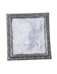 Halloween Geisterbild Wanddekoration silber-grau 36x39x5cm