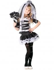 Finstere Horrorbraut Gothic-Kostüm für Mädchen Halloween schwarz-weiss