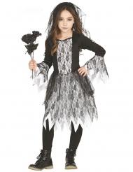 Düsteres Gothic-Brautkostüm für Mädchen Halloween schwarz-weiss