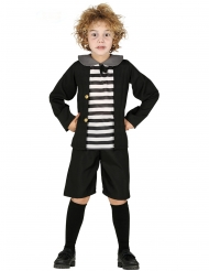 Geister-Schuljunge Halloween-Kostüm für Kinder schwarz-weiss