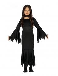 Düsteres Gothic-Kleid für Mädchen Halloween-Verkleidung schwarz