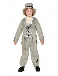 Gespenstisches Bräutigam-Kostüm für Kinder grau-weiss