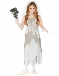 Geisterbraut-Kostüm für Mädchen grau-weiss