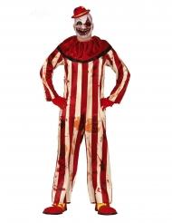 Grusel-Clownkostüm für Herren Halloween-Verkleidungen rot-beige