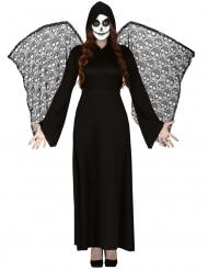 Tödlicher Engel Halloween-Kostüm für Damen schwarz