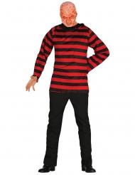 Horror-Killerkostüm für Halloween Film-Verkleidung schwarz-rot