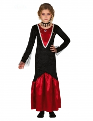 Blutsaugende Vampirin Halloween-Kostüm für Mädchen schwarz-rot