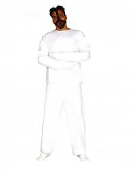 Psycho-Kostüm für Herren Irrer Halloween-Verkleidung weiss