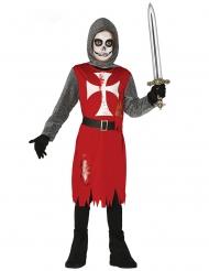 Blutiges Ritterkostüm für Kinder Halloween-Verkleidung rot-grau-weiss