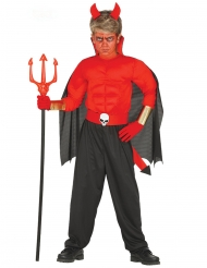 Dämonisches Teufel-Kostüm für Kinder Halloween rot