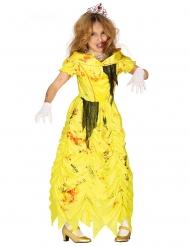 Zombie-Prinzessinkostüm für Mädchen gelb