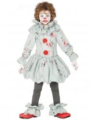 Horror-Clownkostüm für Jungen Halloween-Kostüm grau-rot