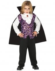 Vampir-Kostüm für Jungen Blutsauger schwarz-lila-weiss