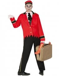 Nachtportier-Zombiekostüm für Erwachsene Halloween rot-schwarz