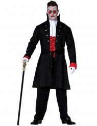 Edler Vampir Halloween-Kostüm für Herren schwarz-rot-weiss