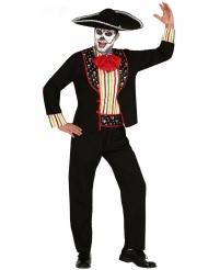 Mariachi-Herrenkostüm Tag der Toten-Verkleidung für Halloween bunt