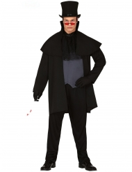 Serienkiller aus dem 19. Jahrhundert Halloween-Kostüm für Herren schwarz-grau