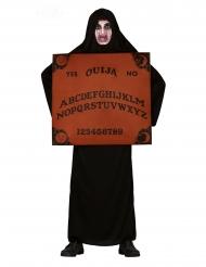 Ouija-Kostüm für Erwachsene Spielbrett-Verkleidung schwarz-braun