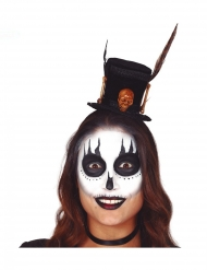 Voodoo-Zylinder für Damen Halloween schwarz-braun