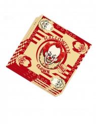 Servietten aus Papier Halloween Partydeko 20 Stück rot-weiss 33 x 33 cm