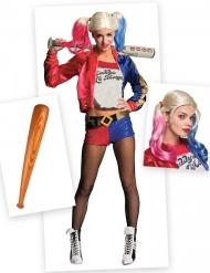 Harley Quinn Suicide Squad™Kostüm und Kostüm-Accessoires 3-teilig bunt