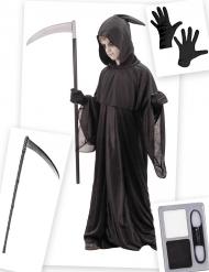 Sensenmann Kostüm-Accessoires für Kinder 4-teilig schwarz
