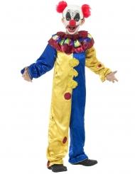 Killer-Clownkostüm mit Rüschenkragen für Kinder Halloween bunt