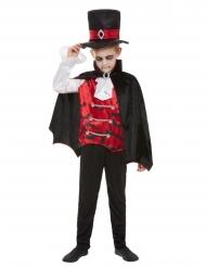 Gothisches-Vampirkostüm für Kinder Halloween schwarz-rot-weiss