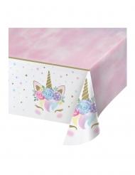 Einhorn-Tischdecke Partydeko für Kindergeburtstage Pastellfarben 137 x 259 cm
