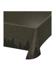 Abwischbare Tischdecke 20er-Jahre-Deko Silvester schwarz-gold 137 x 259 cm