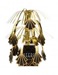 Charleston-Tischdeko 20er-Jahre schwarz-goldfarben 23 cm
