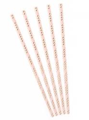 Stilvolle Cocktail-Trinkhalme Partyzubehör 10 Stück goldfarben-rosa 19,5 cm
