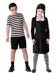 Gothic-Paarkostüm für Kinder Filmkostüme schwarz-weiss